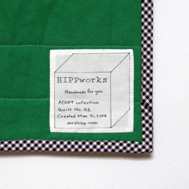 HIPPworks handmade modern quilt label