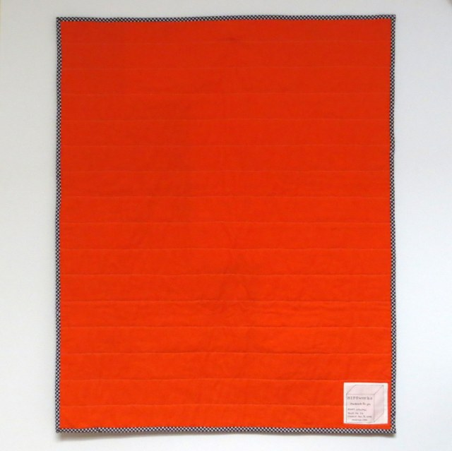 HIPPworks ADOPT handmad modern quilts carrot orange essex linen