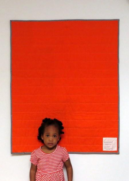 HIPPworks ADOPT handmade modern quilts carrot orange essex linen