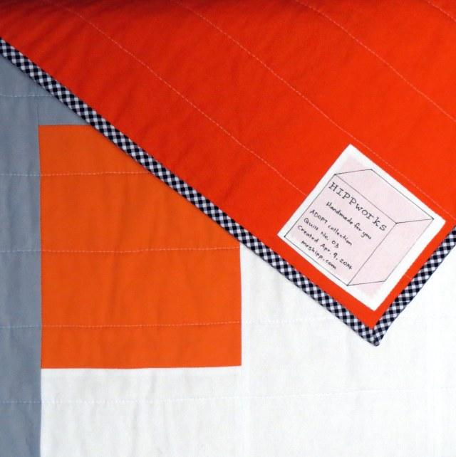 HIPPworks handmade modern quilts label kona essex linen