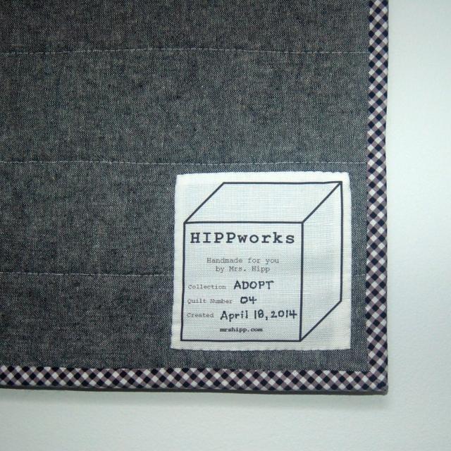 ADOPT Quilt No. 04 label