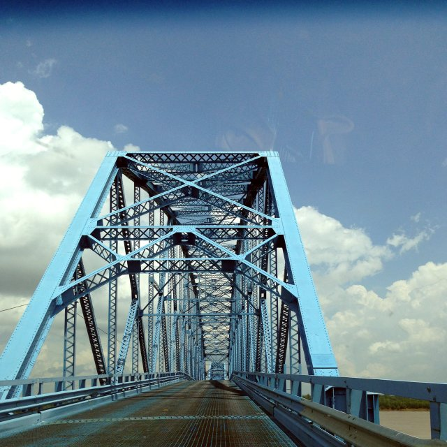The Irvin S. Cobb Bridge over the Ohio River from Paducah, KY to Brookport, IL from my first, spectacular, Mother's Day weekend.